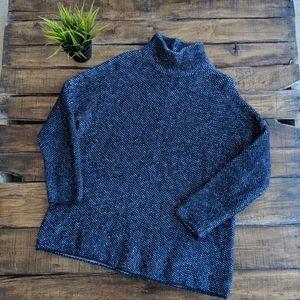 Zara Chunky Knit Mock Neck Sweater